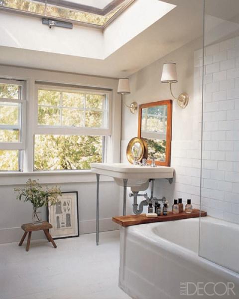 Classic bathroom - Vendome Sconces in Polished Nickel by Thomas O'Brien: TOB2007