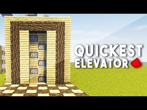 FASTEST REDSTONE ELEVATOR (Unlimited Height) - Minecraft Redstone Tutorial - YouTube