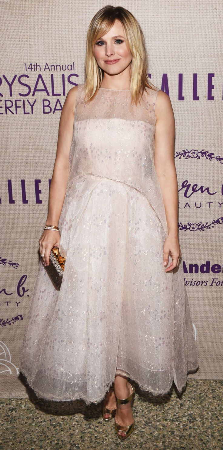 15 of Birthday Girl Kristen Bell's Smokin' Hot Red Carpet Moments - At the 2015 Chrysalis Butterfly Ball from InStyle.com