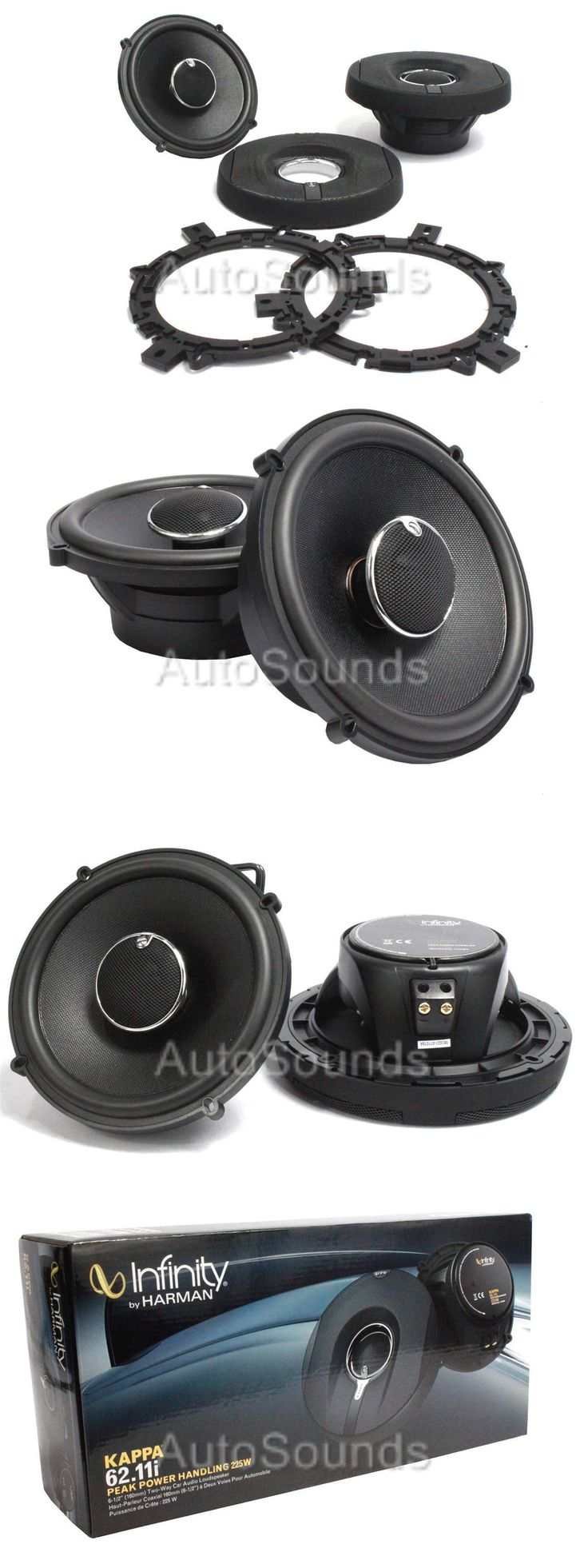 Car Speakers and Speaker Systems: Infinity Kappa 62.11I 450 Watt 6.5 Coaxial 2-Way Car Audio Speakers 6-1 2 New -> BUY IT NOW ONLY: $103.17 on eBay!
