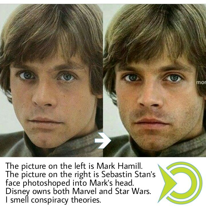 Cannot believe I did not discover this earlier: The Winter Soldier is the right casting for younger Luke Skywalker. This media is contrasting the faces of Mark Hamill, who's the actor who performs Luke Skywalker, within the Star Wars film collection, and that of Sebastin Stan's superimposed on Mark Hamill's head. It goes on to elucidate that Disney owns each Star Wars and Marvel, and implies that there have to be a conspiracy, as a result of the 2 faces look very comparable. Mark appears…
