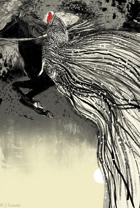 Stunning Illustrations by Jillian Tamaki for Irish Myths and Legends | Brain Pickings.