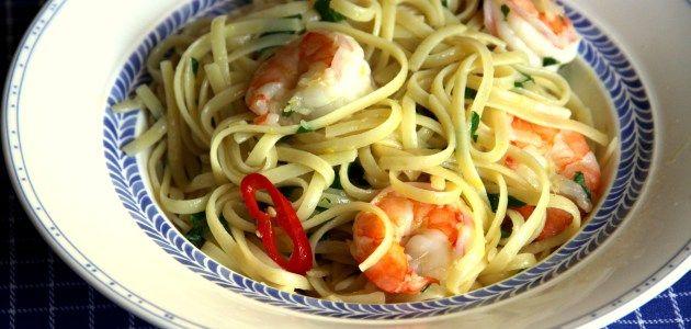 Лингвини с креветками, лимонной цедрой и петрушкой – Вся Соль - кулинарный блог Ольги Баклановой
