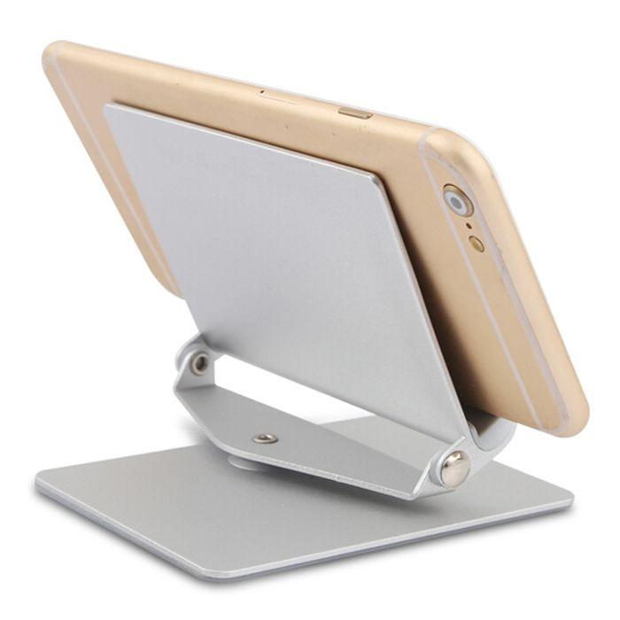 Tablet PC y teléfono móvil del sostenedor del soporte 360 Degree girar aleación de aluminio de escritorio perezoso soporte plegable desmontable soporte Durable