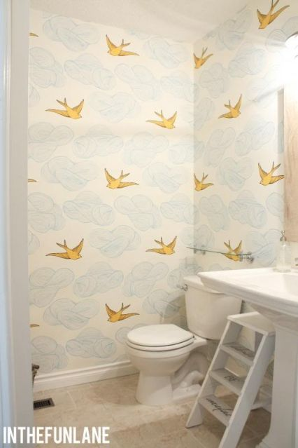 love this wallpaper - http://www.hyggeandwest.com/collections/julia-rothman/products/daydream-sunshine