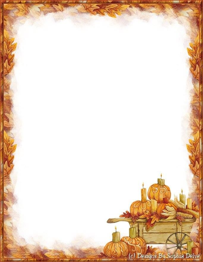 Colorful Thanksgiving Borders And Frames Gallery - Framed Art Ideas ...