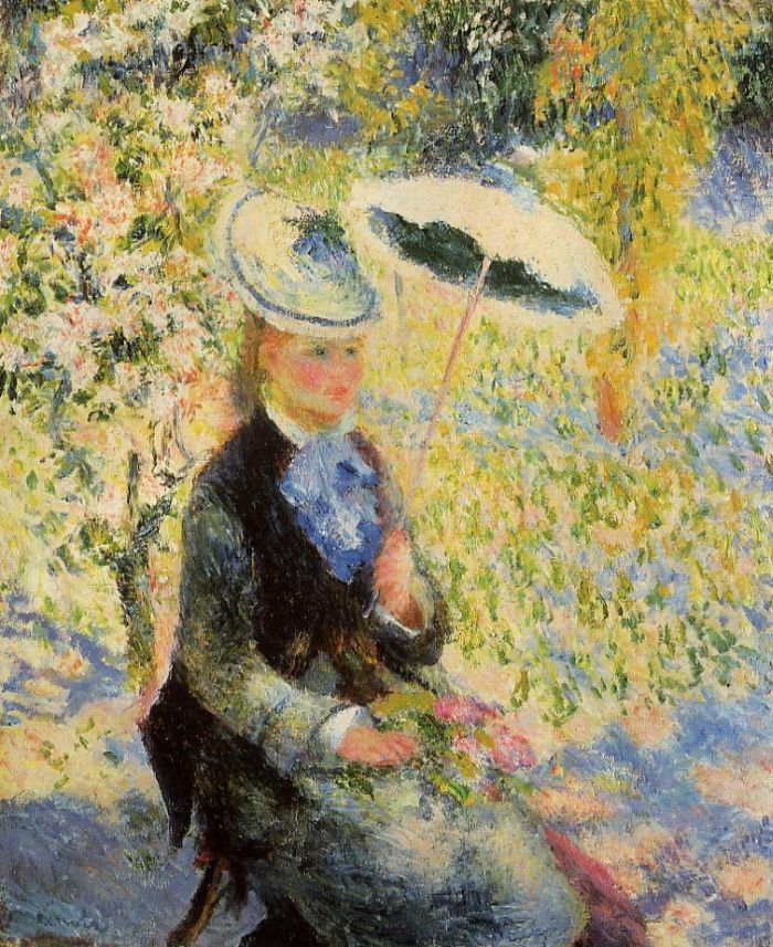 The Umbrella : Pierre Auguste Renoir : Museum Art Images : Museuma