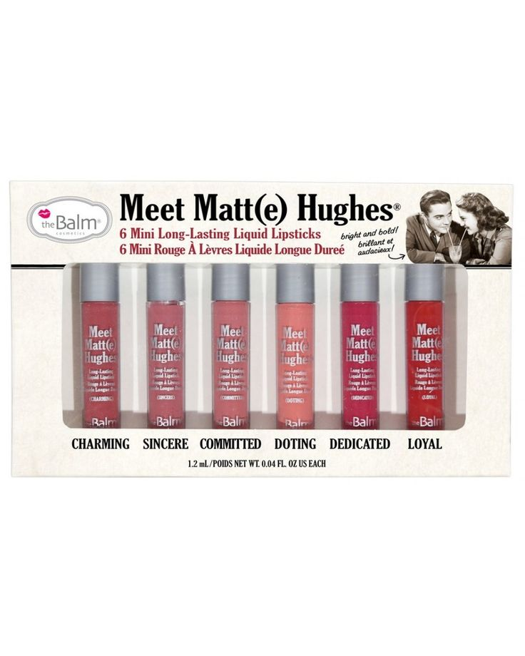 Meet Matt(e) Hughes Mini Kit - Υγρό κραγιόν σετ mini by The Balm