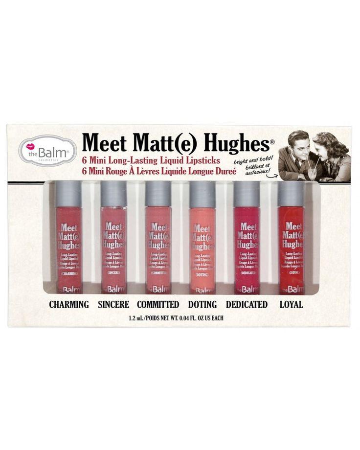 Meet Matt(e) Hughes Mini Kit - Υγρό κραγιόν σετ mini by The Balm