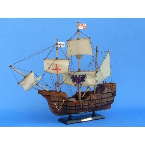 "Santa Maria with Embroidery 20"" - Famous Ships - Model Ship Wood Replica - Not a Model Kit (Toy)  http://howtogetfaster.co.uk/jenks.php?p=B002YLKO22  B002YLKO22"
