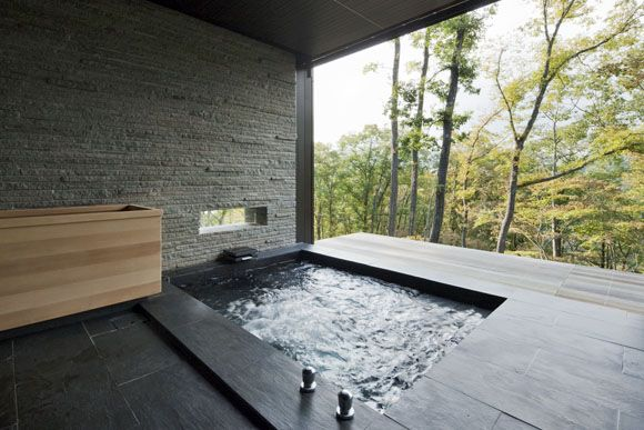 The Art of the Japanese Bath |  Kasahara House in Karuizawa by Ken Yokogawa Architect Associates