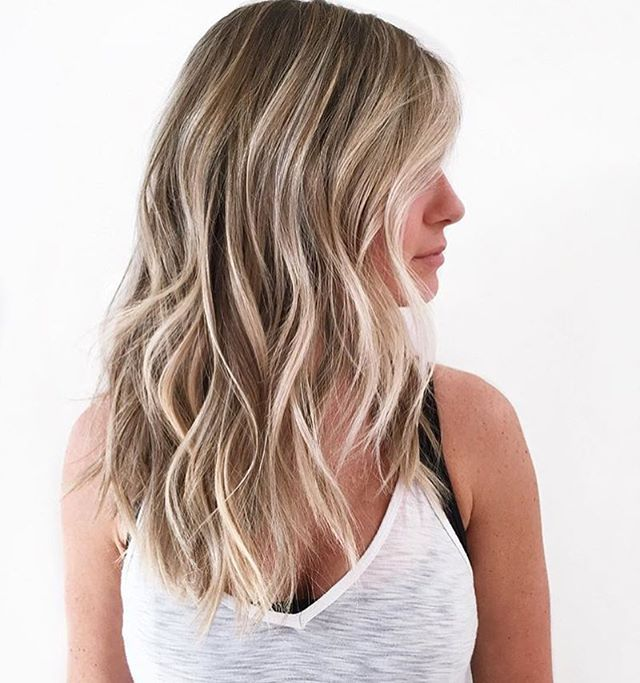 Natural blonde bombshell. Color by @brendakamt  #hair #hairenvy #haircolor #blonde #balayage #highlights #newandnow #inspiration #maneinterest