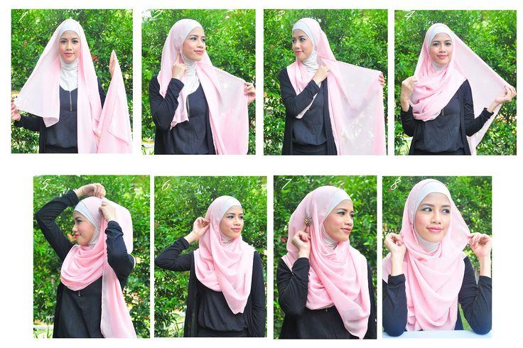 hijab tuto plain