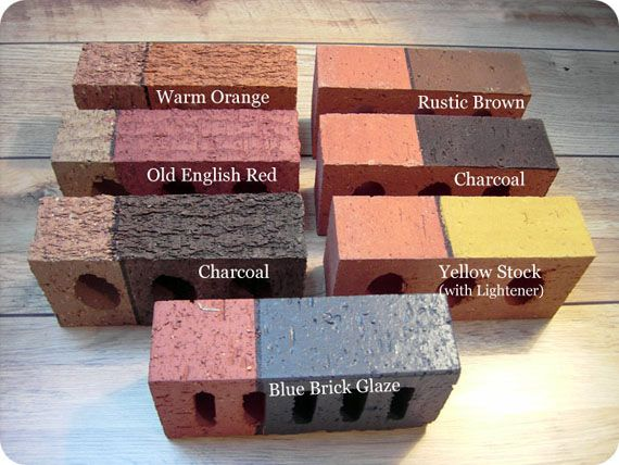 Remodelaholic | Update the Color of your Brick; Stained Brick Fireplace