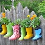 Make Hanging Rain Boot Planters: