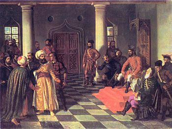 Vlad the Impaler and the Turkish Envoys. Painting by Theodor Aman.