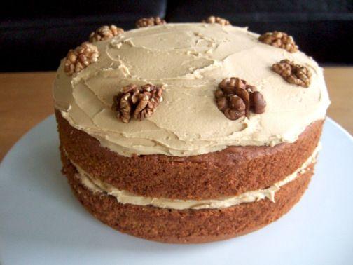 Nigella's coffee and walnut cake