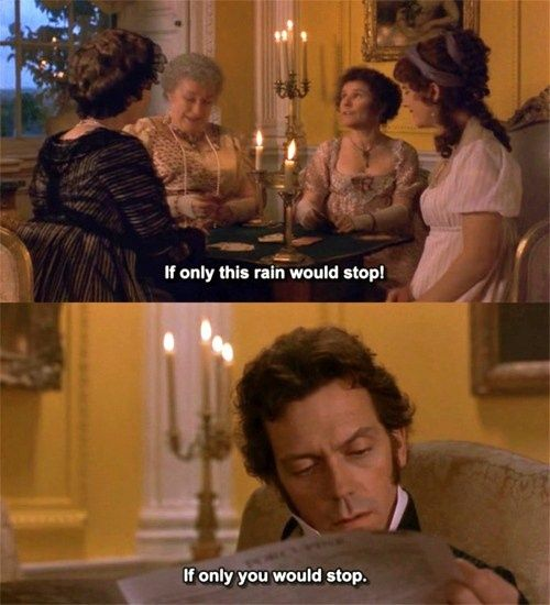 My favorite scene from Sense and Sensibility. Also probably where I fell in love with Hugh Laurie's Sarcastic Wit!! :)