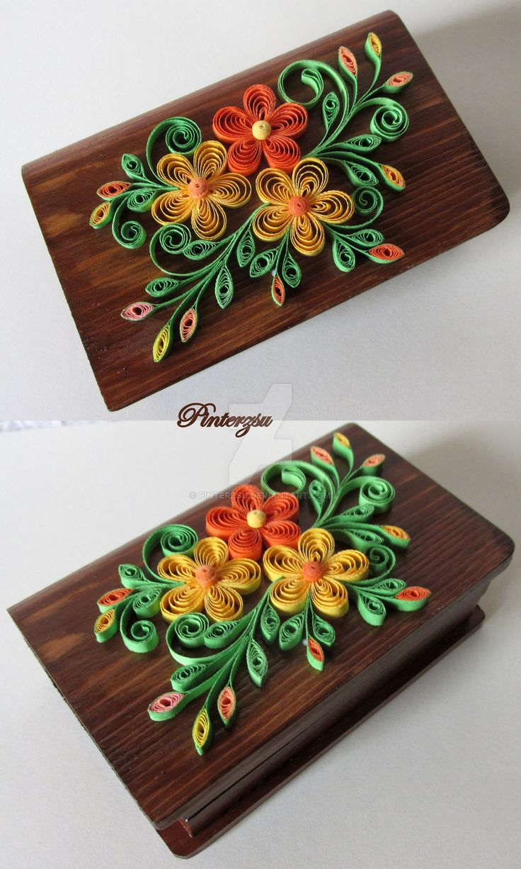 Quilled box by on deviantart for How to use quilling strips