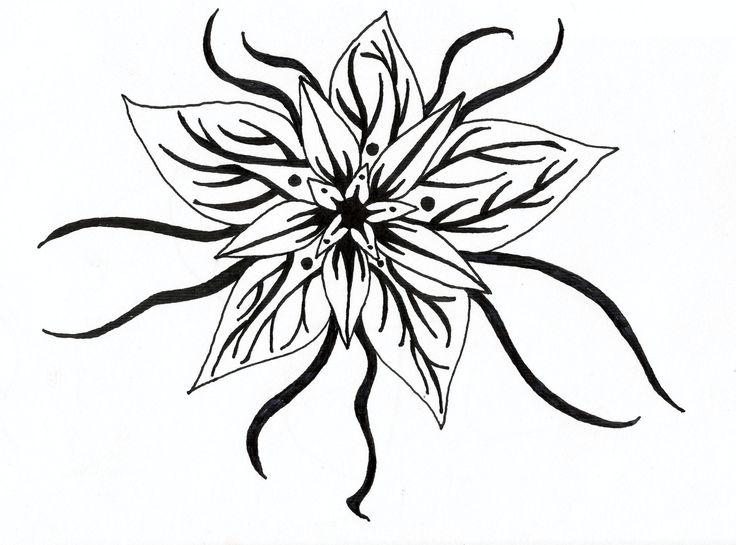 Egyszerű virágkert rajz |  Ma-boutique.co