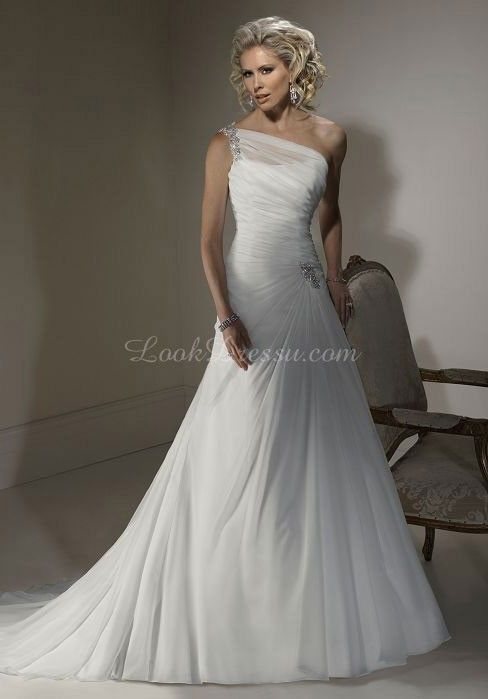 Best 25  One shoulder wedding dress ideas on Pinterest | Add to ...