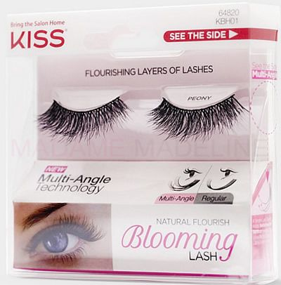 KISS Blooming Lash - Peony are multi layered lashes for a beautiful and voluminous look. #Falselashes #Madamemadeline