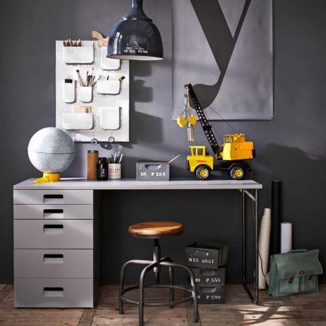 Fancy VT Wonen Store Schreibtisch mit Schubladen grau Bestellen Sie jetzt g nstig auf EIKORA de
