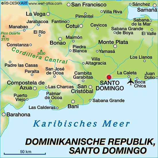Santo Domingo Dominican Republic Map | Keywords for this Map / Map-Content