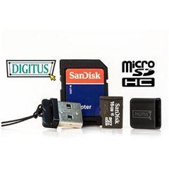 Bei Ebay bekommt ihr aktuell wieder einen DIGITUS USB2.0 Mini Cardreader Stick + 16GB Micro SD Speicherkarte mit SD Adapter für 8,45 € angeboten. Der Versand ist frei.