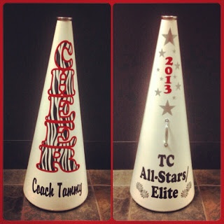 Cheer Megaphone with Zebra Lettering