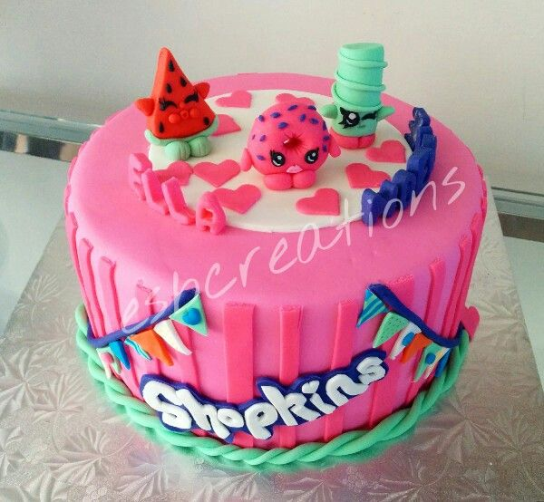 Shopkins Cake Great For A Shpkins Kid S Birthday Party