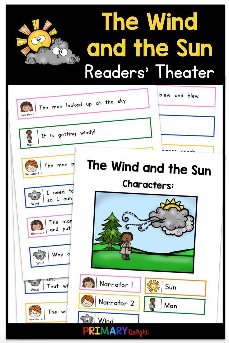 The Wind And The Sun Use This Fun Readers Theater Script For Guided Reading When You Study Aesop S Fa First Grade Reading Readers Theater Teaching Elementary