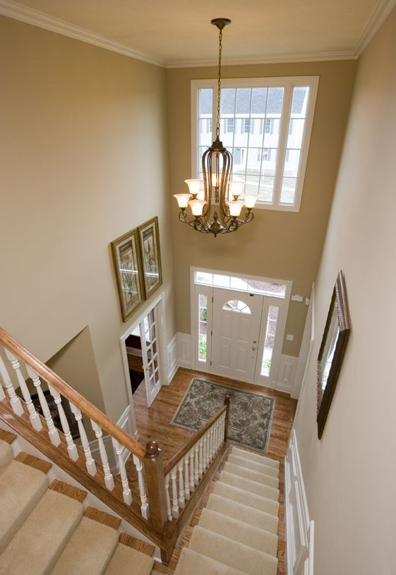 Open Two Story Foyer Hall Pinterest Foyers Dining