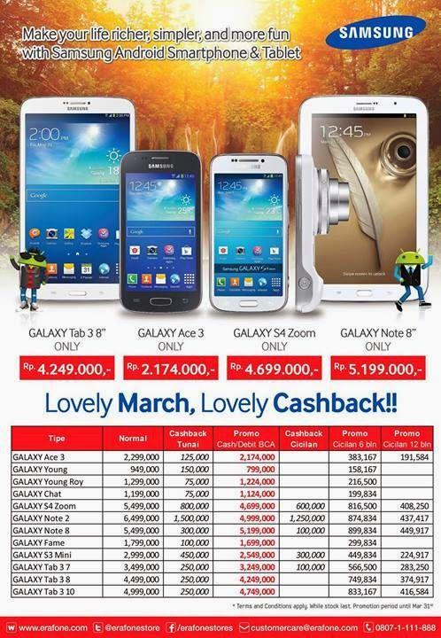 Informasi Ponsel: Promo Samsung Galaxy Maret dan April 2014