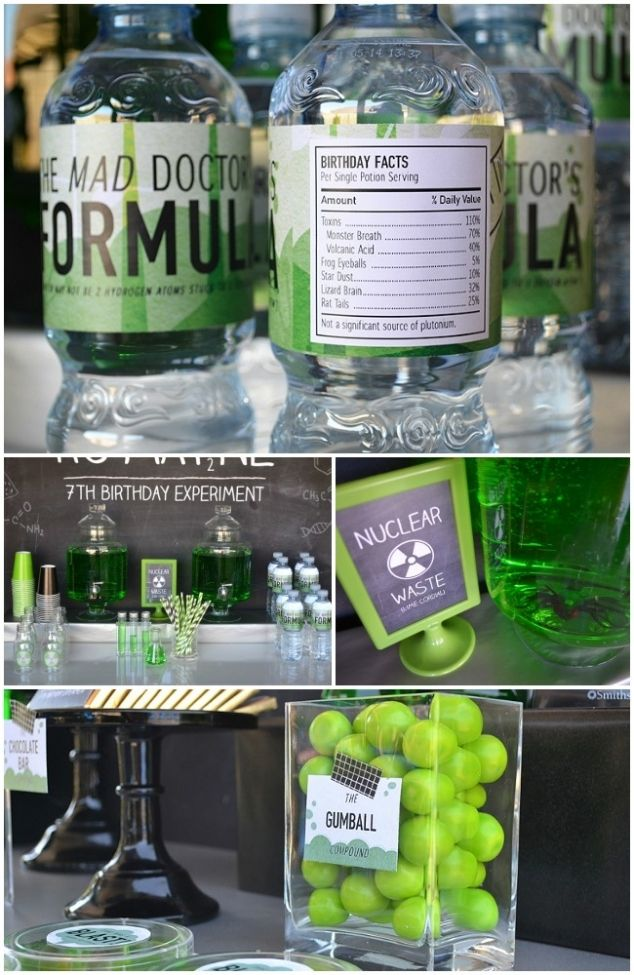 Mad Science Party Supplies | love this mad science party get the look mad science printables glass ...
