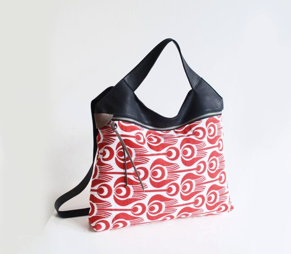 ZIP YOUR STYLE Tinge Garden Scarlet bag by CindyJeurissen on Etsy, €160.00