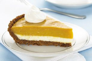 Double Layer Pumpkin Pie.  I have been making this recipe for over 20 years and it is a family favorite.  I do change it by using  french vanilla pudding and when I can find it french vanilla cool whip.  I even had a friend that swears she doesn't eat pumpkin pie fall in love with it and now requests it.....