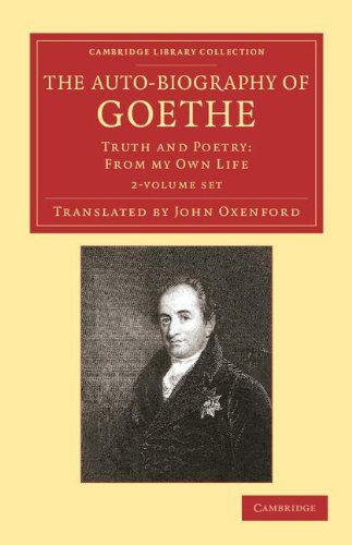 'The #Auto-Biography of Goethe 2 Volume Set; Truth and Poetry: From my Own Life' by Johann Wolfgang von #Goethe (Author), John #Oxenford (Translator)  #GreatBooksoftheWesternWorld #Literature #Classics #Books #Western #Canon