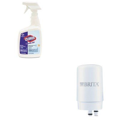 KITCOX35417EACOX42401 - Value Kit - Brita On-Tap Faucet Water Filter System Replacement Filters (COX42401) and Clorox Clean-Up Cleaner w/Bleach (COX35417EA) - $39.52 - 39.52