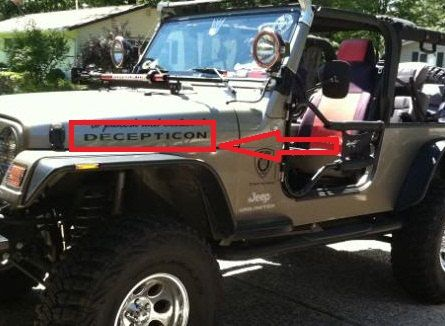 2 X Door Decal Sticker For Jeep Wrangler Rubicon By
