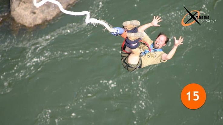 15- Crocodile #BungeeJumping | Zambezi River   This one combines two of the deadliest #AdventureSports . Jumping off a dizzying height and heading straight into the ally of man-eating crocodiles.   Phew...Bone-chilling!!