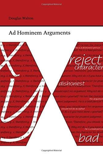 Ad Hominem Arguments (Studies in Rhetoric and Communication)