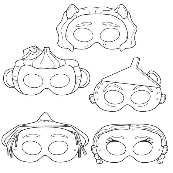 template mask of lion king characters