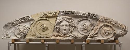 Gable: Celsus: segmented gable  Roman, Middle Empire  113-117 AD  marble