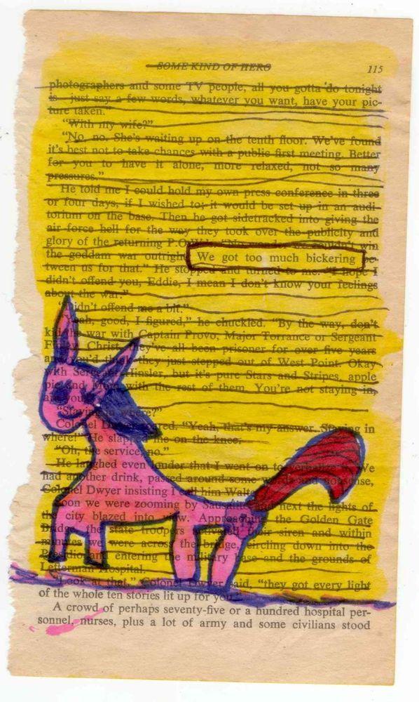 ORIGINAL folk ODD PINK PONY MAN - FINK ART 6 yr old CHILD ARTIST EVE FINKBEINER #OutsiderArt