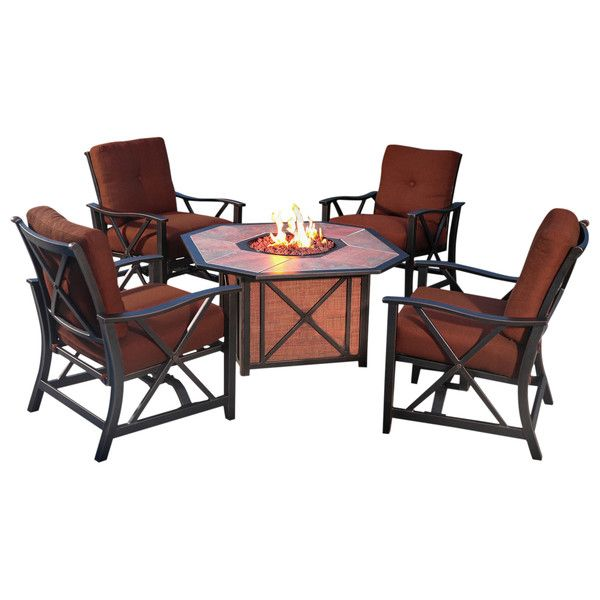 5 Piece Henley Fire Pit Seating Group
