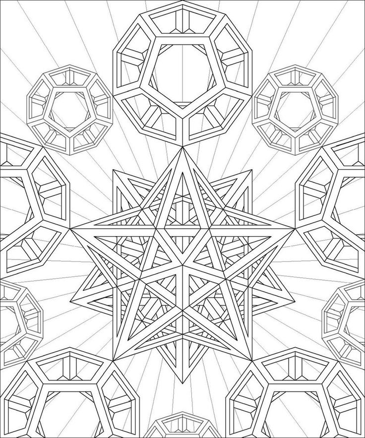 sacred geometry coloring page - Geometry Coloring Pages Printable