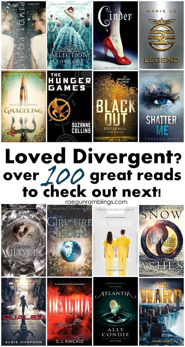 What to read after Divergent. Huge list of awesome YA reads.