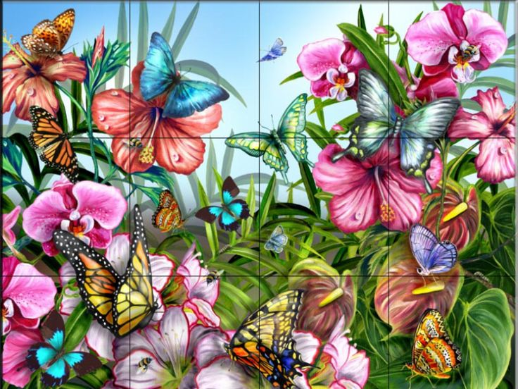 Flower murals flowers murals wallpaper download the - Flower wallpaper mural ...