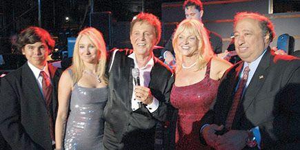 Bobby Vinton and Wife | John Jr., Andrea, Margo, and John Catsimatidis with Bobby Vinton